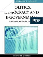 Politics, Democracy and E-Government