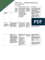 Informe Pedagogico - Modalidades - Nivel Inicial - Primaria