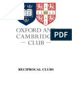 Reciprocal Clubs of Oxford and Cambridge Club