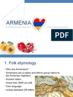 The Influence of Armenian Culture on Character Traits of Its People