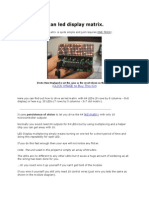 How to Drive an Led Display Matrix