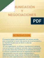 comunicaciones y negociaciones