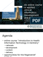 An online course in applied clinical informatics