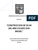 Construccion Ss.hh Mini Coliseo San Miguel
