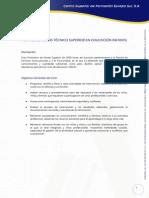 Plan de Estudios Tecnico Superior en Educacion Infantil Semipresencial