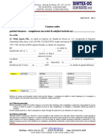 Contract Cadru Vanzare - Cumparare 2014