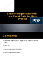 Logistic Regression With Low Event Rate (Rare Events)