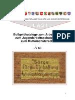 Bußgeld-Katalog zum Arbeitszeit-, Jugendarbeitsschutz- und zum Mutterschutzrecht - 2015