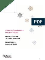 2015eko urtarrileko liburu berriak