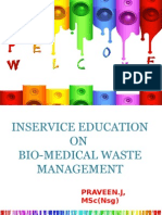 Inservice Education Bio Medical Waste Management