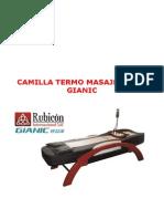 Camilla Termo Masajeadora Gianic