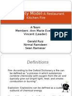 Fire Safety Model-A Restaurant Kitchen Fire