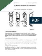 Ciclo de Trabajo y Funcionamiento de Un Motor Diesel