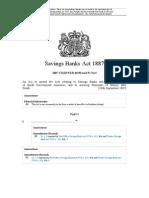 Savings Bank Act 1887