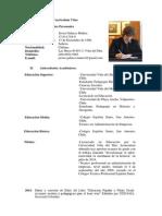 Curriculum Vitae Académico - Javier Galarce