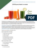 Dieta Alkalina - 5 Zumos y 1 Batido DETOX Para Limpiar Tu Cuerpo