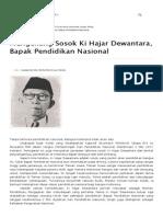 Mengenang Sosok Ki Hajar Dewantara, Bapak Pendidikan Nasional