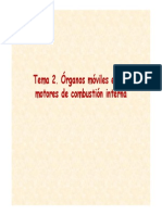 Tema 2. Órganos Móviles en Los Motores de Combustión Interna
