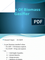 Design of Biomass Gasifier