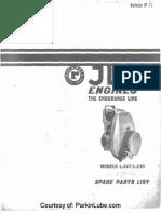 Jlo Engines Rockwell L-227 L-230 L-252-l Jp-7710 Ipl