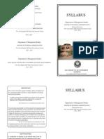 Mba Financial s 2013 15 Syllabus