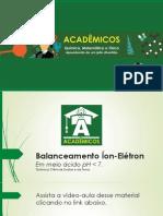 Aula 01 3 Balanceamento de Equações Químicas Em Meio Básico Método Íon-elétron
