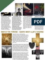 Album Cover & Digipak Analysis - Jacob Osman