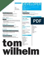Resume Developer 2015
