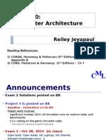 CSE 420 - Computer Architecture I Lecture 9 Memories