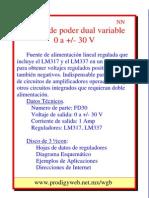 Fuente Regulada 0-30v