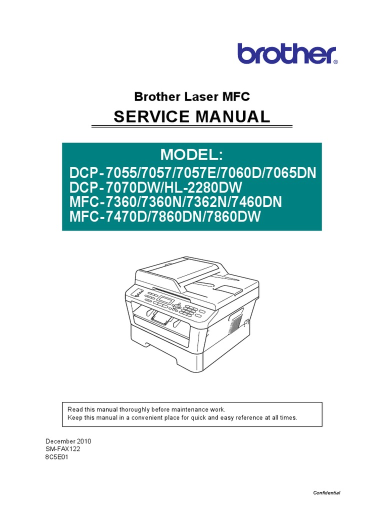 manual service brother 7065 electromagnetic interference image rh scribd com brother laser printer service manual brother printer troubleshooting guide