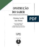 (Aula01) a Contrução Do Saber - Laville e Dionne