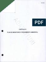 CAPÍTULO 8 Plan de Monitoreo o Seguimiento Ambiental