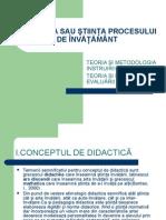 c1-3 Didactica Sau Stiinta Procesului de Invatamant