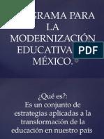 1 a programa para la modernizacin educativa en mxico