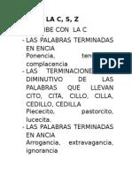 USO DE LA C
