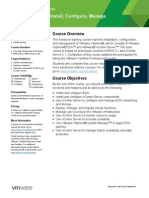 EDU DATASHEET VSphereInstallConfigureManage V5110