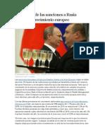 impacto comercial  de sanciones aplicadas por EEUU a RUSIA