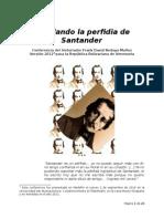 Develando La Perfidia de Santander - Frank David Bedoya Muñoz - Versión 2012 Para La República Bolivariana de Venezuela
