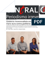 27-01-2015 Central Ct - Gobierno Morenovallista Anuncia Mano Dura Contra Grafiteros
