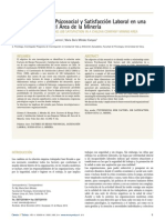 Factores de Riesgo Psicosocial y Satisfacción Laboral en una Empresa Chilena del Área de la Minería