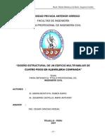 Diseño Estructural de Un Edificio Multifamiliar de Cuatro Pisos en Albañileria Confinada