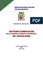 Sistema Curricular de La Carrera Profesional de Psicologia