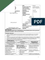 Programa Procesos Quimicos de La Vida 2014