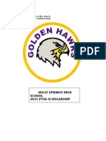 2015 HSHS PTSA Scholarship Application