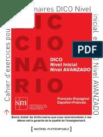 Cahier d´excercices pour les dictionnaires DICO