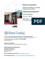 Daikin Concealed Air Conditioning Ceiling Unit