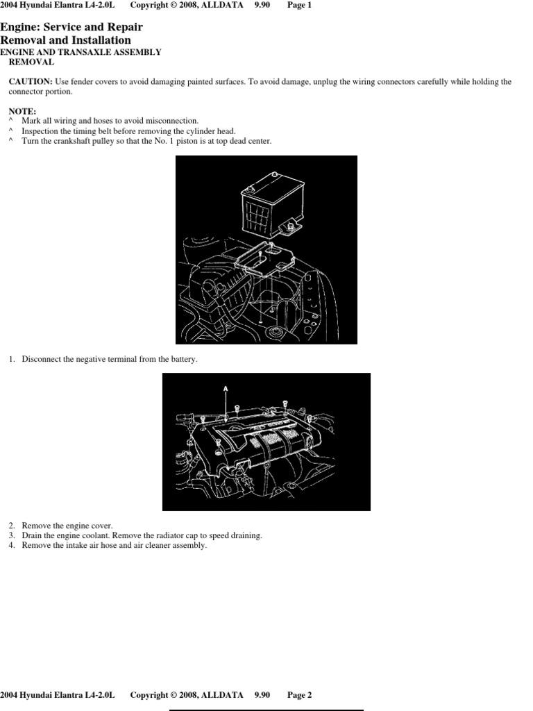 Engine Removal Throttle Technology Hyundai Diagram Intake Area