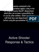 Active Shooter Guide and Tactics