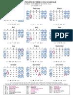 Texas Standard Possession Calendar